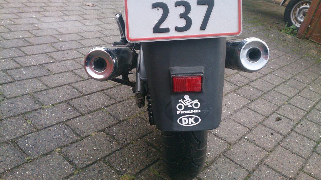 Bikerfriend og forskel på behandlet skærm
