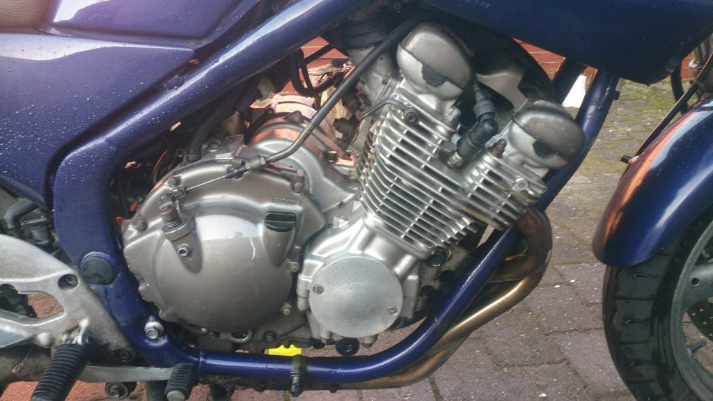 Xj600 Motor Degreasing højre